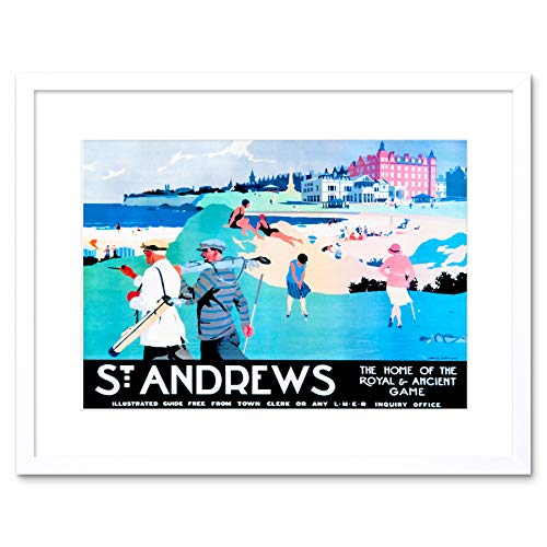 The Art Stop ST Andrews FIFE Scotland Golf ROYAL Ancient Sport Framed Print Picture F12X1442 - Royal And Ancient Golf