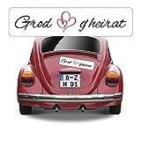 Magnetschild Hochzeit beschriftet mit Grod g'heirat AZ0555