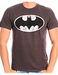 Batman Herren T-Shirt Batman Logo Metal