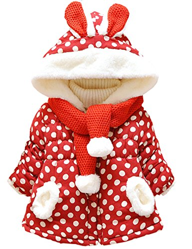 Little Hand Baby-Mädchen Jacke Dot Bedruckt Mäntel ,0-3 Jahre