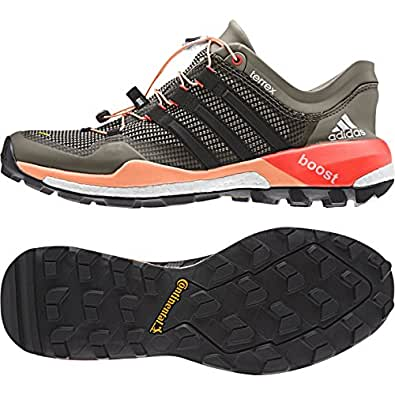 Adidas Outdoor Terrex Boost Trail Running Shoe - Clay/black/flash Orange 10.5