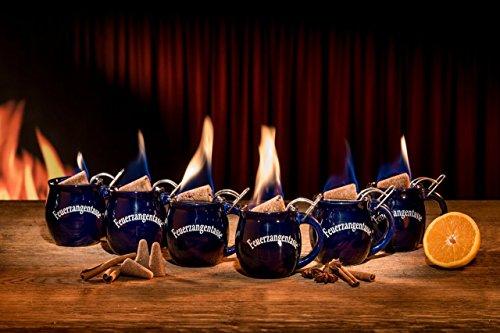 6 Feuerzangentassen (blau)