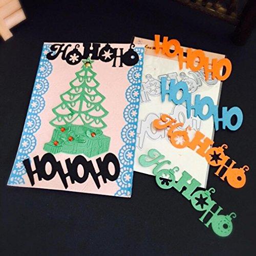 Scrapbooking Schablonen, SHOBDW Weihnachten Halloween Papier Dekor Schneiden stirbt Schablone Scrapbooking DIY Handwerk (Q)