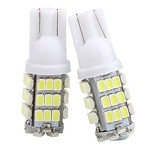 2 pieces Ampoule Lampe T10 5050 LED Veilleuse 42 SMD 12V Blanc FEUX Voiture