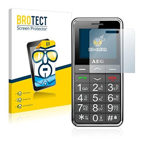 BROTECT Schutzfolie kompatibel mit AEG Voxtel SM250 [2er Pack] klare Bildschirmschutz-Folie