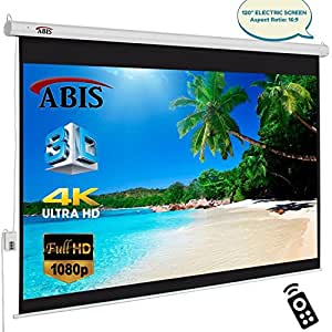 """120"""" inch Electric Motorized HD Projector Screen With Remote Control 16:9 Native Aspect Ratio"""
