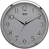 #9: Ajanta Wall Clock For Home And Offices (28 cm x 28 cm , Step Movement, Silver)