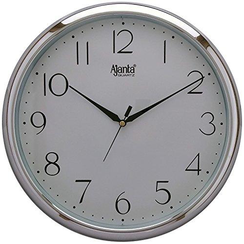 Ajanta Plastic Wall Clock (28 cm x 28 cm x 3.4 cm, White)