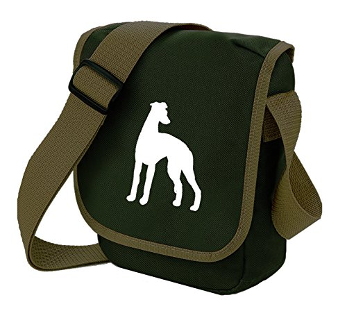 Bag Pixie - Borsa a tracolla unisex adulti White Dog Olive Bag