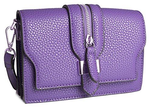 Big Handbag Shop - Borsa a tracolla donna (Viola)