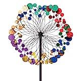 Bits and Pieces - Metallic Kaleidoscope Wind Spinner - Garden Décor - Weather