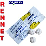 2x cuajo titanio® cuajo tabletas para cualquier tipo de queso 2tabletas para 100L de leche
