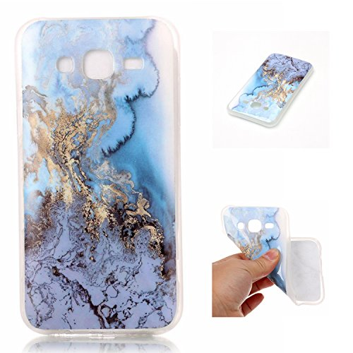 Qiaogle Telefon Case - Weiche TPU Case Silikon Schutzhülle Cover für Apple iPhone 6 Plus / iPhone 6S Plus (5.5 Zoll) - YH43 / No.8 Marmor Landschaft YH41 / Colour6
