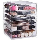 Beautify Grand Rangement 6 niveaux Maquillage - 5 tiroirs et séparateurs amovibles - Acrylique