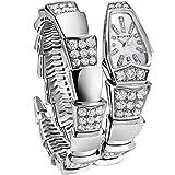 Bvlgari Womens Serpenti Diamond Quartz MOP Dial Watch 101787 SPW26WGD1GD1.1T