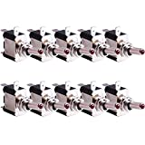 Kinstecks 10PCS 12V 20A interruttore a levetta interruttore a 3 pin SPST ON/OFF interruttore a levetta colore rosso luce LED utilizzato per auto, camion, barca, ATV