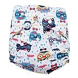 Calico Swim Pannolino Baby Infant Snap assorbente lavabile Costume da bagno Pannolino Riutilizzabile Swim Pannolino per neonati Toddlers Nuoto lezioni, One Size Fit All(BL008)