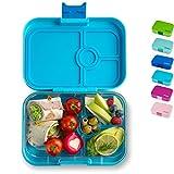 Yumbox Panino M Bento Box - mittelgroß, mit 4 Fächern | Lunchbox mit Trennwänden | Kindergarten Kinder, Schulanfang, Erwachsene (Blue Fish)