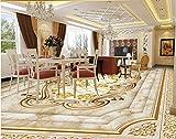 Roebin 3D Wandbild Tapete Europäische Luxusboden Benutzerdefinierte Selbstklebende Rose Marmorboden Für Badezimmer Malerei Wand-Aufkleber Wanddekoration 450Cmx300Cm