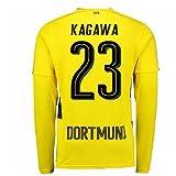2017-18 Borussia Dortmund Long Sleeve Home Football Soccer T-Shirt Trikot (Shinji Kagawa 23)