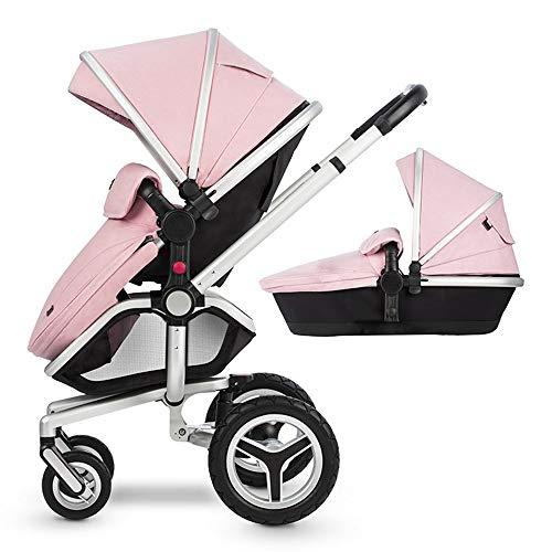 Passeggino Pieghevole Di Lusso Per Bambini Con Molle Anti-shock Passeggino Neonato Regolabile Ad Alta Visibilità Passeggino Carrozzina Passeggino Passeggino,Pink