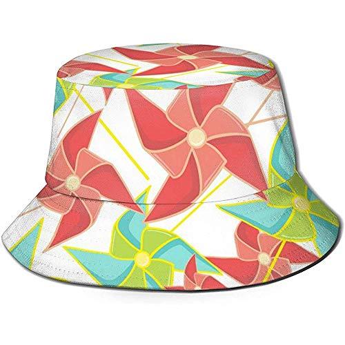 Baobei-shop giocattolo di carta mulini a vento girandola unisex cappello a secchiello flat top cappello da pescatore cappello da sole per esterno
