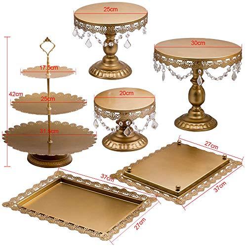 Generic Decor Lot de 6 Supports à penda avec Support à gâteaux, pendentifs et Perles pour Cupcakes Décoration de fête 6 pièces