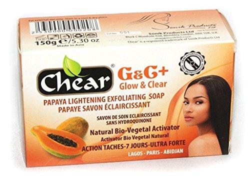 G&C+ Papaya Skin Lightening Whitening Brightening Exfoliating Soap 150g - with natural bio vegetal activator