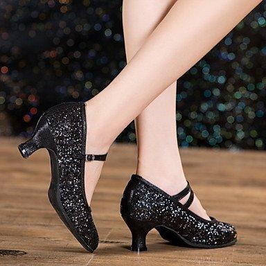 Scarpe da ballo - Non personalizzabile - Da donna - Balli latino-americani / Jazz - Tacco cubano - Di pelle / Vernice - Altro Black