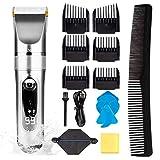 FAMINESS Haarschneidemaschine FAMINESS Haarschneider Herren Haartrimmer Elektrischer Haarscherer Profi Haarrasierer Präzisionstrimmer Langhaarschneider für Männer Kinder Wasserdichter USB Wiederaufladbar