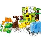 TTGE Große Teilchen bausteine ABS-Material Kinder pädagogisches Spielzeug Set Kreativität (Zoo-Serie) 77st,B