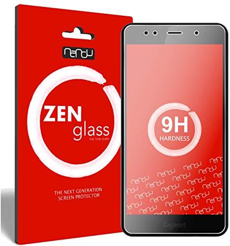 nandu I ZenGlass Flexible Glas-Folie für Gigaset GS180 Panzerfolie I Bildschirm-Schutzfolie 9H I (Kleiner Als Das Gewölbte Bildschirm)