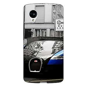 Jugaaduu Super Car Bugatti Back Cover Case For Google Nexus 5