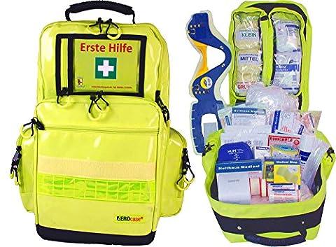 Erste Hilfe Notfallrucksack für Sport, Sportvereine, Freizeit & Event - Plane GELB