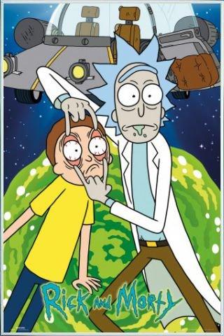 Rick Y Morty Póster con Marco (Plástico) - OVNI (91 x 61cm)