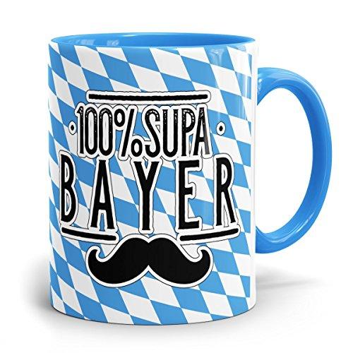 Bayerische-Kaffeehaferl-Bayern-Tassen-Becher-Tasse '100 Prozent Supa Bayer'