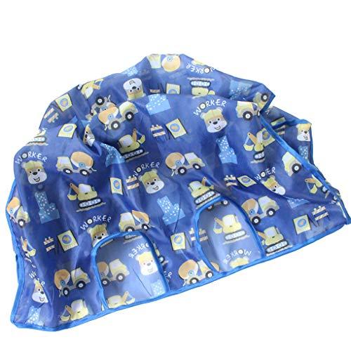 Lindahaot Faltbare Baby-Warenkorb Abdeckung Infant Wagen Supermarkt Abdeckung Baby-Sitzauflage Anti-Dirty-Einkauf Abdeckung Blau 1 -