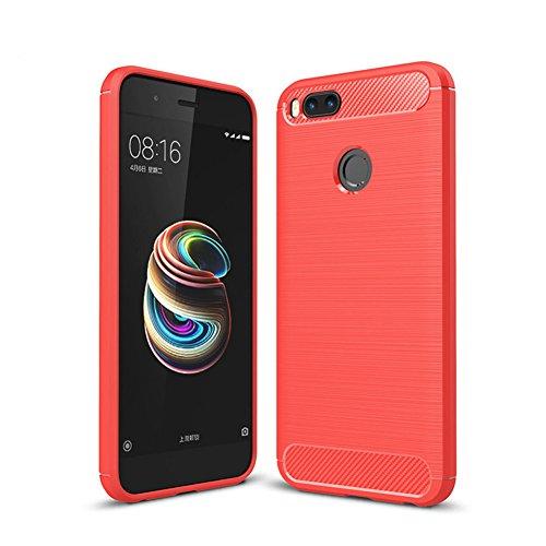 """XMT Xiaomi Mi 5X,Xiaomi Mi A1 5.5"""" Funda,Calidad Premium Cubierta Delgado Caso de TPU Silicona Funda Protective Case Cover para Xiaomi Mi 5X,Xiaomi Mi A1 Smartphone (Rojo)"""