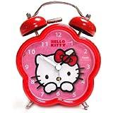 Hello Kitty - Despertador de 7.5 cm con forma de flor, color rojo (United Labels 811294)