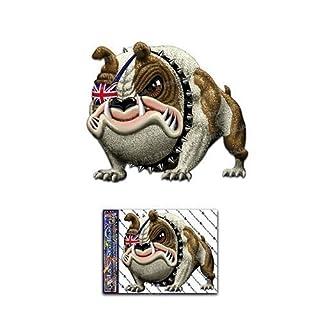 Britische Bulldogge Lustige Tier Hund Lustige Abziehbild Aufkleber Für Auto Boote Trucks Caravans - ST00035UK_SML - JAS Aufkleber