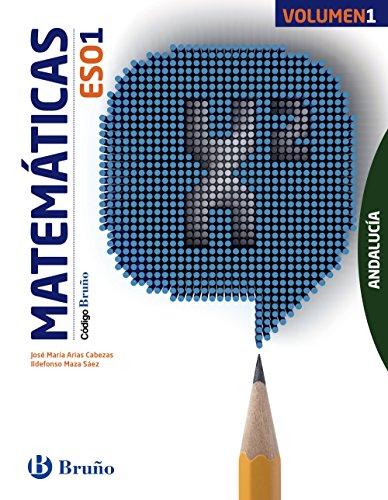 Código Bruño Matemáticas 1 ESO Andalucía3 volúmenes