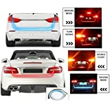 Motoway Tail Lights Streamer Brake Turn Signal LED Lamp Strip Waterproof For Honda Mobilio(Red and Blue)