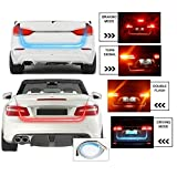 #3: Motoway Car Tailgate Led Strip Light, Car Rear Tail Lights Streamer Brake Turn Signal Led Lamp Strip ,Red And Blue Color