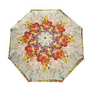 bennigiry Colorful Vintage pintura mapa del mundo resistente al viento impermeable compacto paraguas de viaje–Auto abierto cierre plegable paraguas sombrilla de transporte resistente ligero fácil para los hombres mujeres y niños