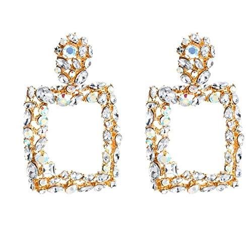 MyEstore Schmuck Ohrringe Große 2 Paare Retro Geometric Platz Bohreinsätze Ohrringe (weiß) (Farbe : Weiß)
