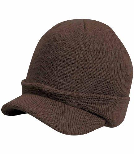 Result winter essentials esco army knitted hat marron chocolat
