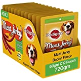 Pedigree Dog Treats Meat Jerky Stix, Bacon, 60 G (Pack Of 12)