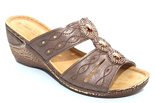 Marco Tozzi Cruise Donna Zeppa Open Toe Estate Sandali taglia UK 3 – 8 Brown