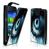 Vertikal Flip Style Handy Tasche Case Schutz Hülle Schale Motiv Etui Karte Halter für Samsung Galaxy S4 Mini i9190 / i9195 - Variante VER6 Design4