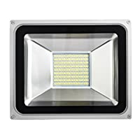 100W LED Flood Light, Outdoor Spotlight, Cold White(6000-6500K), Waterproof IP65, AC 200-240V, Security Lights, 7000LM from Yuanline